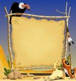 Peau d'animal dans un désert Photos libres de droits