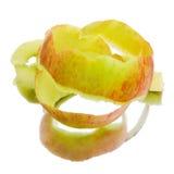 Peau d'une pomme sur un fond blanc photo libre de droits
