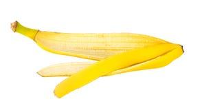 Peau de banane, d'isolement sur le fond blanc Images libres de droits