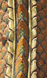 Peau de dragon avec la texture d'or Images stock