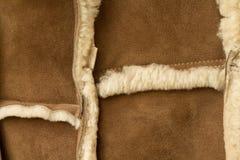 Peau de mouton de peau de mouton cousue Images libres de droits