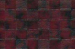 Peau de vache rouge de claret - cuir images stock