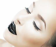 Peau saine d'espace libre de mode de beauté, visage frais Image libre de droits