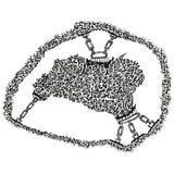Peau stylisée abstraite ou ouatine de B&W dans les réseaux Photo libre de droits