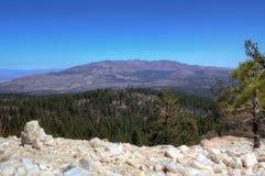 Peavine peak NV. Peavine peak near Reno NV from Crystal Peak mine with quartz , transition from Sierra NV to Great Basin biome Stock Image