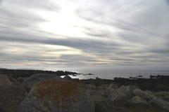 Pebble海滩, 17英里驱动,加利福尼亚,美国 图库摄影