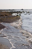 Pebble海滩和ocean.JH 免版税库存照片