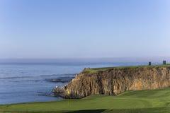 Pebble海滩高尔夫球场,蒙特里,加利福尼亚,美国 免版税库存照片