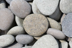 Pebble. Closeup of small rocks on the beach stock images