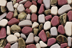 Pebble. Abstract pebble background texture with with pieces gold Stock Photos