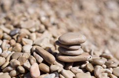 Pebble background Stock Photography