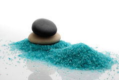 Pebble and bath salt Stock Photo