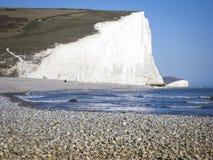 Pebble Beach苏克塞斯海岸英国 免版税库存图片