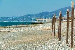 Pebble Beach à Sotchi, Russie Photo stock
