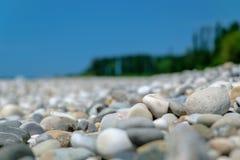 Pebble Beach в абхазии Стоковая Фотография RF