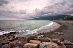 Pebble Beach в Odawara, Kanagawa, Японии Стоковые Изображения RF