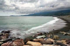 Pebble Beach в Odawara, Kanagawa, Японии Стоковые Изображения