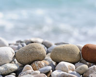 Pebble on a beach Stock Photos