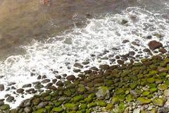 Pebble Beach in Agua de Pau, Azzorre portugal Fotografie Stock