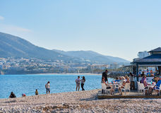 Pebble beach of Altea Royalty Free Stock Images