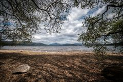 Free Pebble Beach At Loch Lomond In Scotland Stock Photo - 154757980