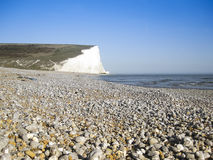 Pebble beach background sussex coast england Royalty Free Stock Photo