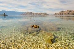 Pebble beach in Baska, Croatia Stock Photo