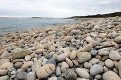 Pebble Beach in Bretagna immagine stock libera da diritti