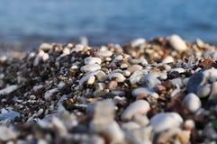 Pebble Beach in Budva Stockfotos
