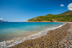 Pebble beach at Bussaglia on west coast of Corsica Stock Images