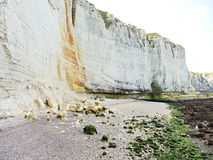 Pebble beach and cliff on english channel Royalty Free Stock Photo