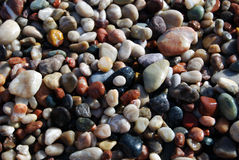 Pebble Beach. Colorful pebble on the sea beach Royalty Free Stock Photo