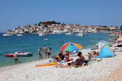Pebble beach in Croatia Royalty Free Stock Images