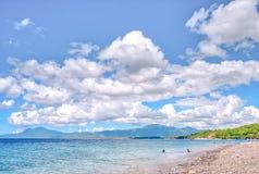 Pebble Beach de Punta Malabrigo, Batangas, Filipinas foto de archivo libre de regalías