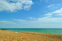 Pebble beach of the English Channel. Stock Photography