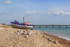 Shingle beach English Channel Deal Kent England Royalty Free Stock Photo