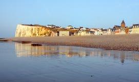 Pebble Beach et falaise Images libres de droits