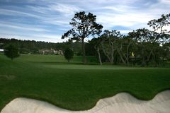 Pebble beach golf course, ca Stock Photos