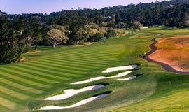 Pebble Beach golf course, Monterey, California, USA. A view of Pebble Beach golf course, Monterey, California, USA stock photos