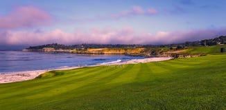 Pebble Beach golf course, Monterey, California, USA. A view of Pebble Beach golf course, Monterey, California, USA stock photography