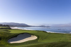 Pebble Beach golf course, Monterey, California, USA Stock Photos