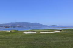 Pebble Beach golf Stock Photo