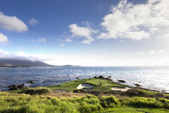 Pebble Beach golfbana, Monterey, Kalifornien, USA Royaltyfri Foto