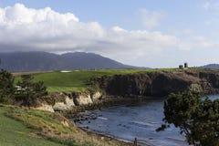 Pebble Beach golfbana, Monterey, Kalifornien, USA Royaltyfri Fotografi