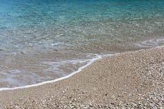 Pebble Beach Grekland Arkivbilder