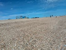 Pebble beach of Hayling island on the South coast of England near Havant Stock Photo