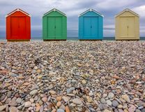 Pebble Beach Huts stock photos