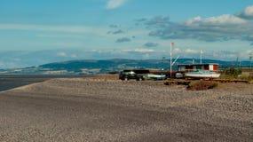 Pebble Beach i Minehead Royaltyfria Bilder