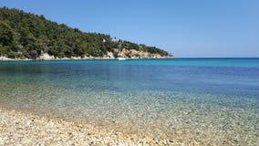 Pebble Beach, islas de Grecia foto de archivo