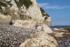 Pebble beach on Jurassic coast Stock Photography